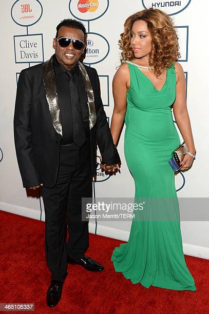 Musican Ron Isley and Kandy Johnson Isley attend the 56th annual GRAMMY Awards Pre-GRAMMY Gala and Salute to Industry Icons honoring Lucian Grainge...