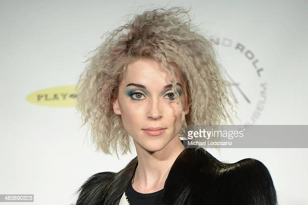 Musican St Vincent attends the 29th Annual Rock And Roll Hall Of Fame Induction Ceremony at Barclays Center of Brooklyn on April 10 2014 in New York...