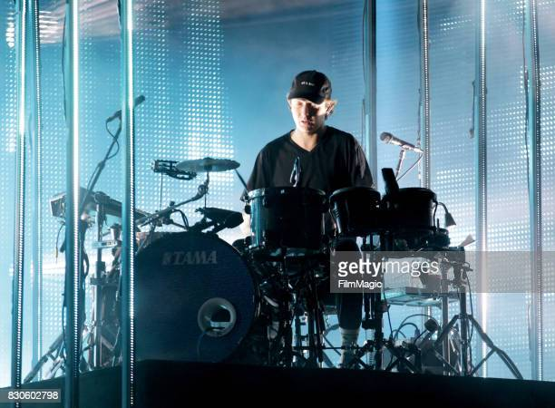 Musican Thom Sonny Green of altJ performs on the Twin Peaks Stage during the 2017 Outside Lands Music And Arts Festival at Golden Gate Park on August...