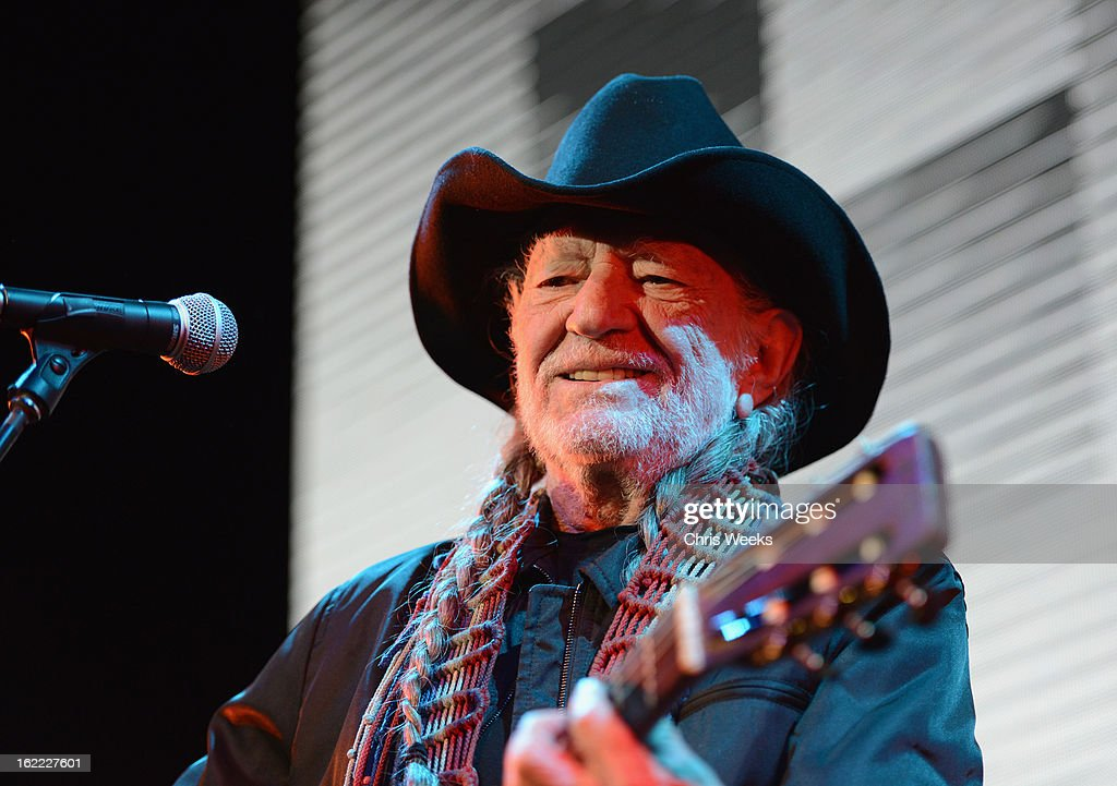 Musican Willie Nelson performs on stage during Global Green USA's 10th Annual Pre-Oscar Party at Avalon on February 20, 2013 in Hollywood, California.