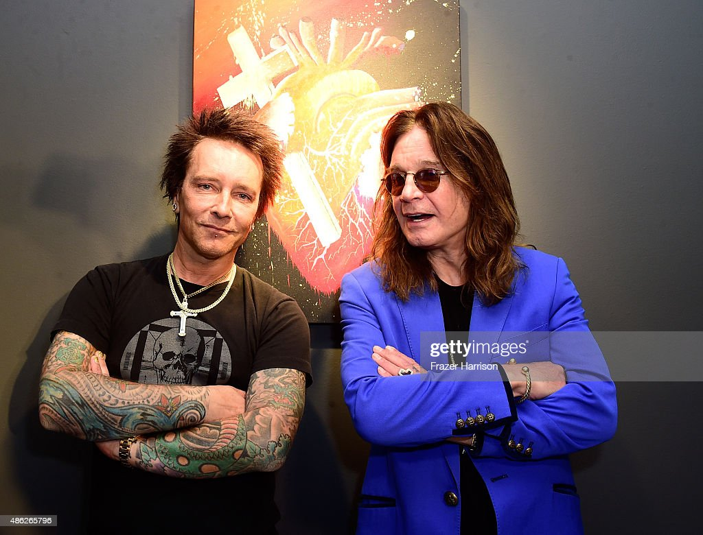 Musican\Artist Billy Morrison and musican Ozzy Osbourne attend an VIP Opening Reception For 'Dis-Ease' An Evening Of Fine Art With Billy Morrison at Mouche Gallery on September 2, 2015 in Beverly Hills, California.