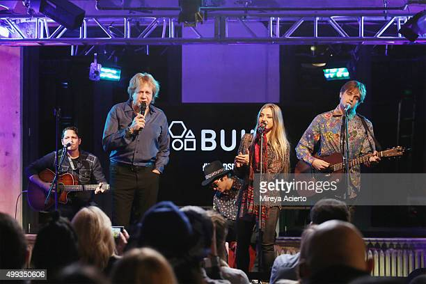 Musicans Eddie Money , Julian Money , Jesse Money , and Dez Money perform during AOL Build at AOL Studios on November 30, 2015 in New York City.
