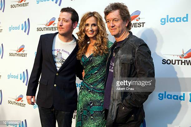 Musicans Jeremy Lister Chely Wright and Rodney Crowell arrive at the 21st Annual GLAAD Media Awards held at Marriot Marquis on June 5 2010 in San...