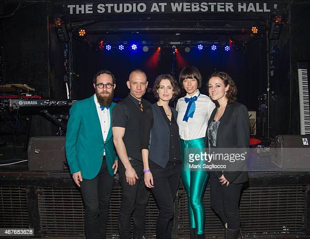 Musicans Mark Palmer Blake Morgan Janita Anthea White and Melissa Giges attend the Janita Record Release Event at Webster Hall on March 26 2015 in...