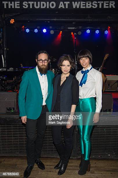 Musicans Mark Palmer Janita and Anthea White attend the Janita Record Release Event at Webster Hall on March 26 2015 in New York City