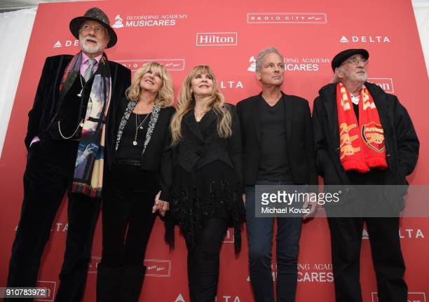 MusiCares Person of the Year 2018 Honorees Mick Fleetwood, Christine McVie, Stevie Nicks, Lindsey Buckingham, and John McVie of Fleetwood Mac attend...