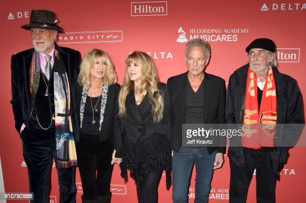 MusiCares Person of the Year 2018 honorees Mick Fleetwood Christine McVie Stevie Nicks Lindsey Buckingham and John McVie of Fleetwood Mac attend...