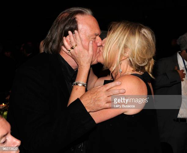 MusiCares Person of the Year Neil Young and wife Pegi Young attend the 2010 MusiCares Person Of The Year Tribute To Neil Young at the Los Angeles...