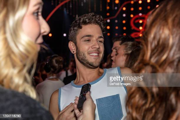 musicer Luca Haenni looks on during the 1st show of the 13th season of the television competition Let's Dance on February 28 2020 in Cologne Germany