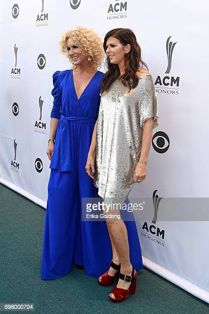 Musicial artist Kimberly Schlapman and Musicial artist Karen Fairchild from musicial group Little Big Town attend 10th Annual ACM Honors at the Ryman...