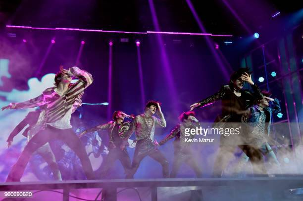 Musicial group BTS performs onstage at the 2018 Billboard Music Awards at MGM Grand Garden Arena on May 20 2018 in Las Vegas Nevada