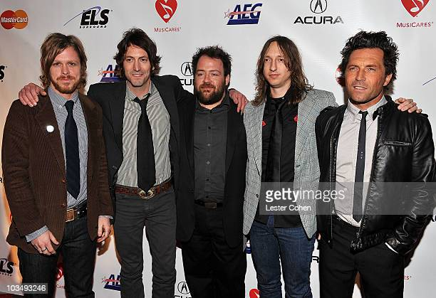 Musicial group Everest arrives at the 2010 MusiCares Person Of The Year Tribute To Neil Young at the Los Angeles Convention Center on January 29,...
