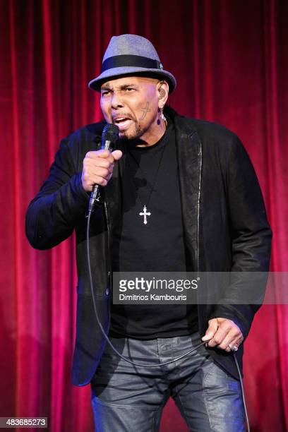 Musician Aaron Neville performs on stage at the Food Bank for New York City's Can Do awards dinner gala on April 9 2014 in New York City