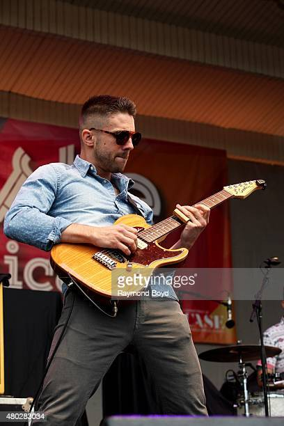 Musician Aaron Sharp from Saint Motel performs at the Petrillo Music Shell during the 35th Annual 'Taste Of Chicago' on July 08 2015 in Chicago...