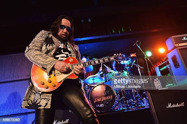 Musician Ace Frehley performs during his 'Space Invader' Tour 2014 at BB King Blues Club Grill on November 24 2014 in New York City