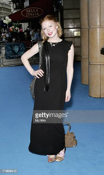 Musician / actress Bryony Afferson arrives at the UK premiere of Lady In the Water held at the Vue West End cinema on August 8 2006 in London England
