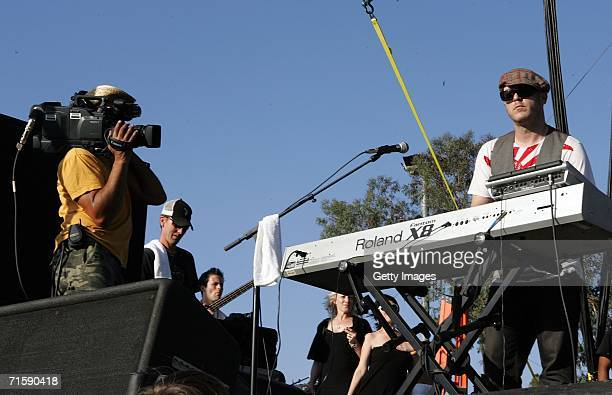 Musician Adam Bravin from the band She Wants Revenge performs onstage at San Diego Street Scene held at Qualcomm Stadium on August 4 2006 in San...
