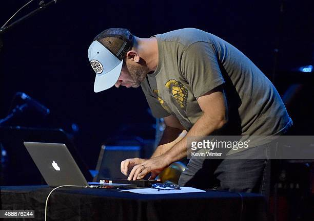 Musician Adam Dorn aka Mocean Worker performs onstage during The David Lynch Foundation's DLF Live Celebration of the 60th Anniversary of Allen...