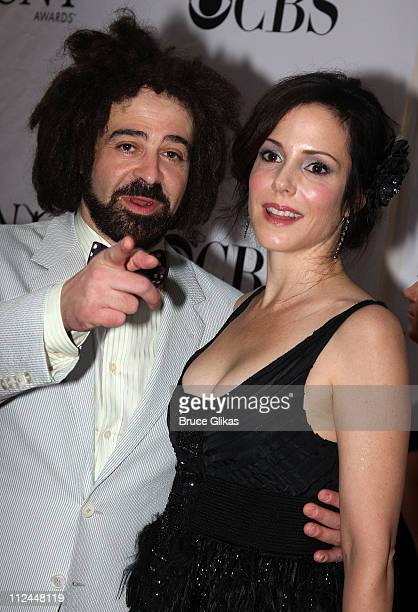 Musician Adam Duritz and actress MaryLouise Parker attend the 62nd Annual Tony Awards on June 15 2008 at Radio City Music Hall in New York City