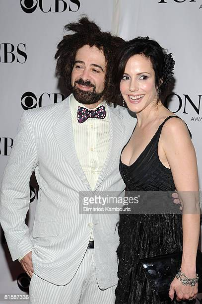 Musician Adam Duritz and actress MaryLouise Parker attend the 62nd Annual Tony Awards at Radio City Music Hall on June 15 2008 in New York City