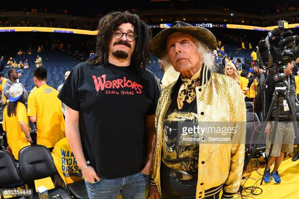 Musician Adam Duritz and NBA Superfan James Goldstein attend Game Two the Western Conference Semifinals between the Utah Jazz and the Golden State...
