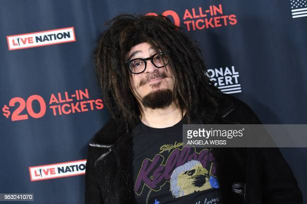 Musician Adam Duritz of Counting Crows attends Live Nation's celebration of the 4th annual National Concert Week at Live Nation on April 30 2018 in...