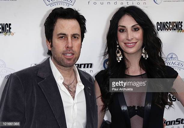 Musician Adam Gaynor actress Ashley Kirshner arrive at the 1st annual My Ocean Planet fundraiser benefitting project Kaisei at The Malibu Lumber Yard...