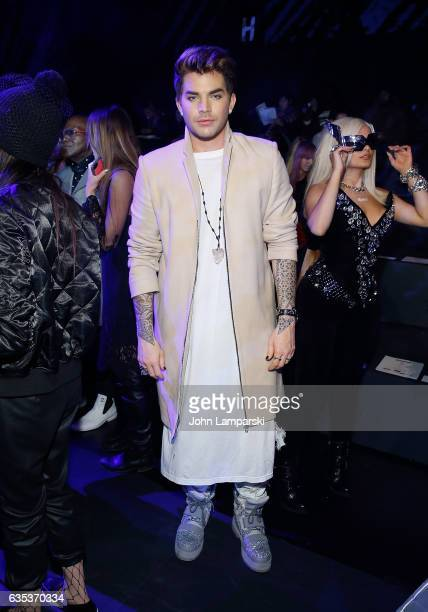 Musician Adam Lambert attends The Blonds fashion show during February 2017 New York Fashion Week presented by MADE at Gallery 1 Skylight Clarkson Sq...