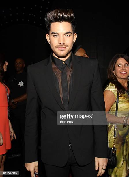 Musician Adam Lambert attends the iHeartRadio Music Festival at the MGM Grand Garden Arena on September 21 2013 in Las Vegas Nevada