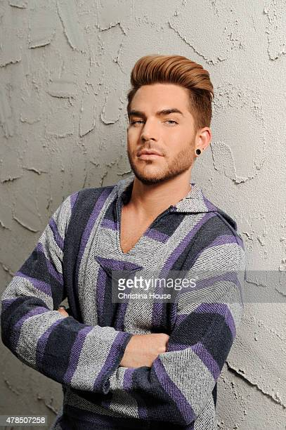 Musician Adam Lambert is photographed for Los Angeles Times on May 14 2015 in Los Angeles California PUBLISHED IMAGE