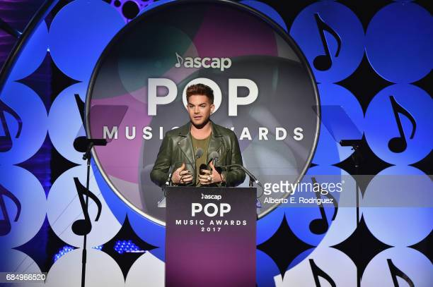 Musician Adam Lambert onstage at the 2017 ASCAP Pop Awards at The Wiltern on May 18 2017 in Los Angeles California
