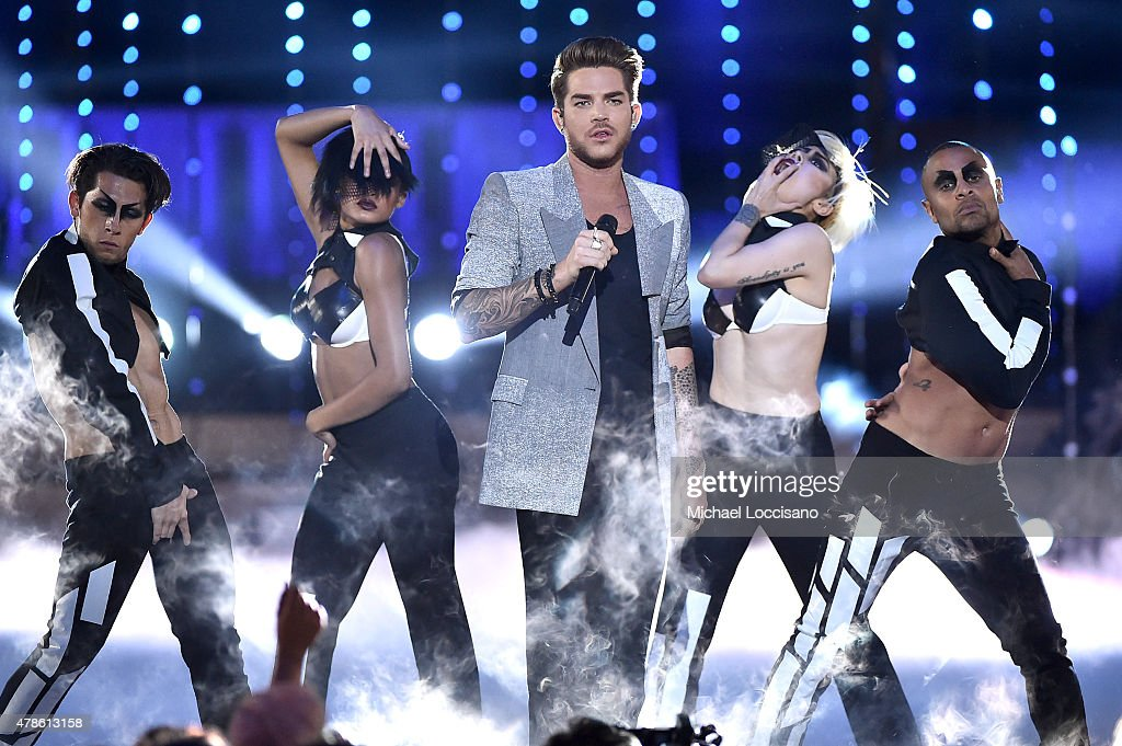 Musician Adam Lambert performs onstage at Logo's 'Trailblazer Honors' 2015 at the Cathedral of St. John the Divine on June 25, 2015 in New York City.