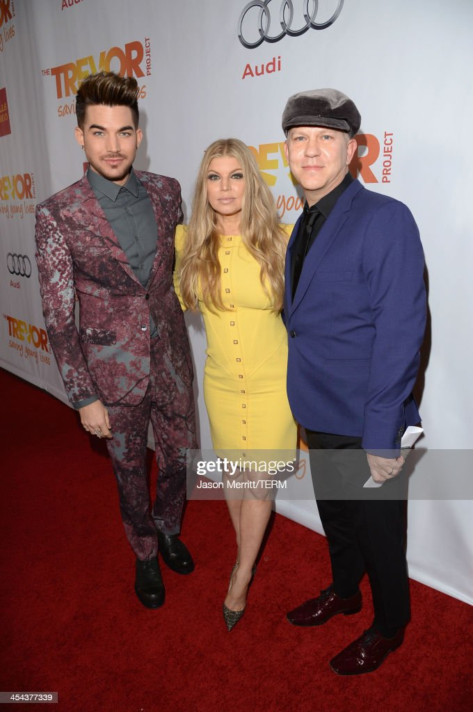Musician Adam Lambert, singer Fergie and writer/director/producer Ryan Murphy attend 'TrevorLIVE LA' honoring Jane Lynch and Toyota for the Trevor Project at Hollywood Palladium on December 8, 2013 in Hollywood, California.