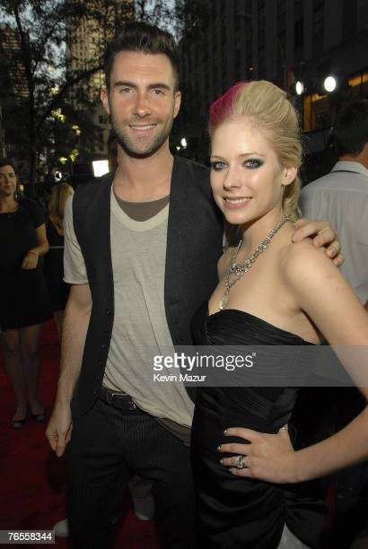 Musician Adam Levine and Musician Avril Lavigne arrive at Conde Nast Media Group's 4th Annual Fashion Rocks at Radio City on September 6 2007 in New...