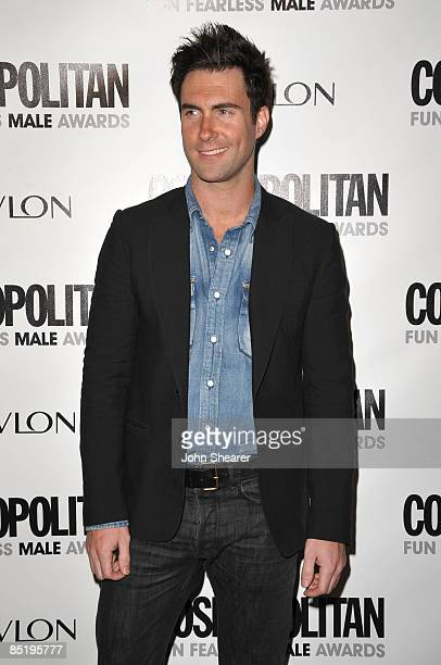 Musician Adam Levine arrives to Cosmopolitan's 2009 Fun Fearless Awards at SLS Hotel on March 2, 2009 in Beverly Hills, California.