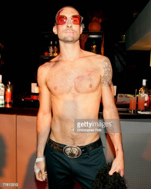 Musician Adam Levine attends Maroon 5's Halloween Party sponsored by Bacardi on October 31 2007 in Los Angeles California