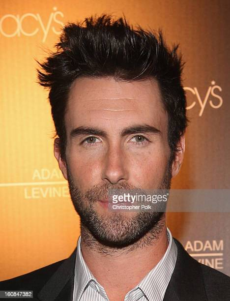Musician Adam Levine attends the launch of his signature fragrances at The Premier Fragrance Installation on February 6 2013 in Los Angeles California