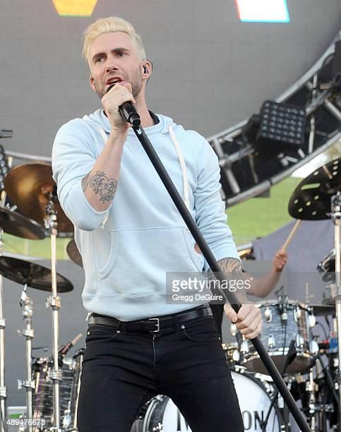 Musician Adam Levine of Maroon 5 performs at 1027 KIIS FM's 2014 Wango Tango at StubHub Center on May 10 2014 in Los Angeles California
