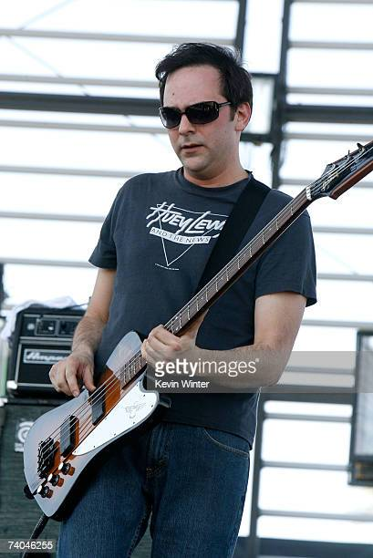Musician Adam Schlesinger from the group Fountains Of Wayne performs during day 2 of the Coachella Music Festival held at the Empire Polo Field on...