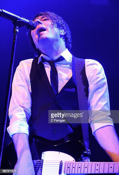Musician Adam Young of Owl City performs at The Fillmore on April 5 2010 in San Francisco California