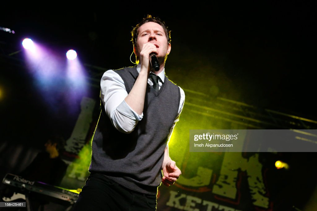 Musician Adam Young of Owl City performs onstage at The 3rd Annual Salvation Army Rock The Red Kettle Concert at Nokia Theatre L.A. Live on December 15, 2012 in Los Angeles, California.