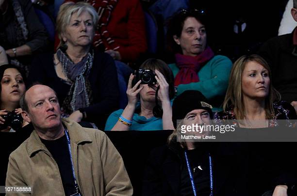 Musician Adrian Smith of Iron Maiden watches the Rafael Nadal and Tomas Berdych men's singles match against during the ATP World Tour Finals at O2...