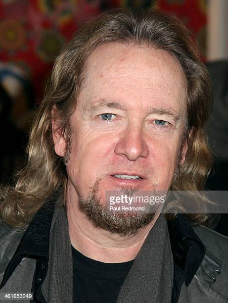 Musician Adrian Smith of the band Iron Maiden at celebrity artist Domingo Zapata hosts event at LAB ART on January 9 2014 in Los Angeles California