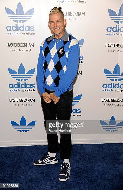 Musician Adrian Young attends the adidas Originals By Originals David Beckham By James Bond Collection Launch on September 30 2009 in Los Angeles...