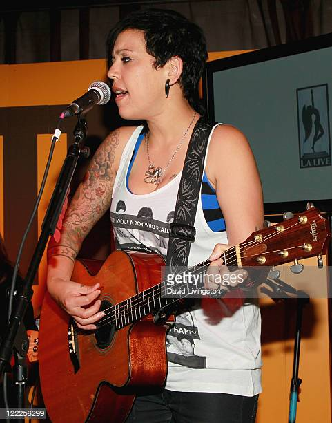 Musician Adrianne Gonzalez of The Rescues performs onstage during the 2010 Los Angeles Film Festival at ZonePerfect live.create.lounge on June 21,...