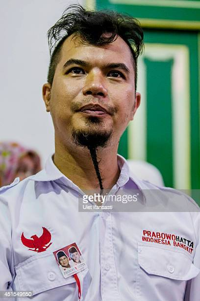 A musician Ahmad Dhani attends during Presidential candidate Prabowo Subianto meets with Sultan of Yogyakarta Hamengkubuwono X on at Kraton palace...
