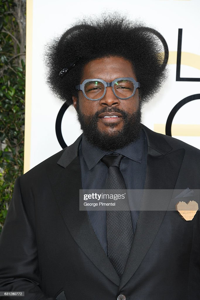 Musician Ahmir Khalib 'Questlove' Thompson attends the 74th Annual Golden Globe Awards at The Beverly Hilton Hotel on January 8, 2017 in Beverly Hills, California.