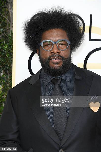 Musician Ahmir Khalib 'Questlove' Thompson attends the 74th Annual Golden Globe Awards at The Beverly Hilton Hotel on January 8 2017 in Beverly Hills...