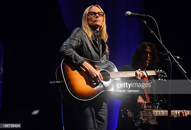Musician Aimee Mann performs at The Saban Free Clinic's Gala Honoring ABC Entertainment Group President Paul Lee And Bob Broder at The Beverly Hilton...