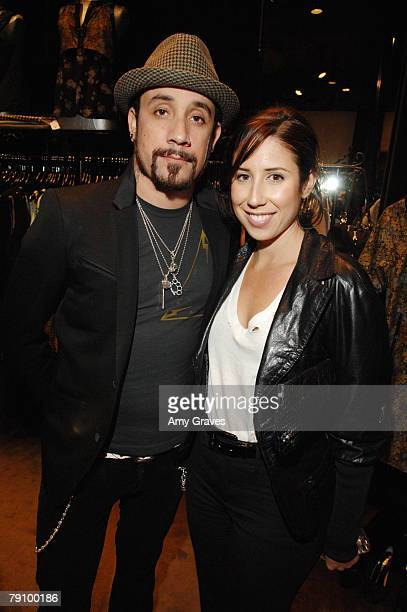 Musician A.J. McLean and Nicole Janowicz attend the Hysteric Glamour Party at the Tracey Ross Boutique on January 17, 2008 in West Hollywood,...